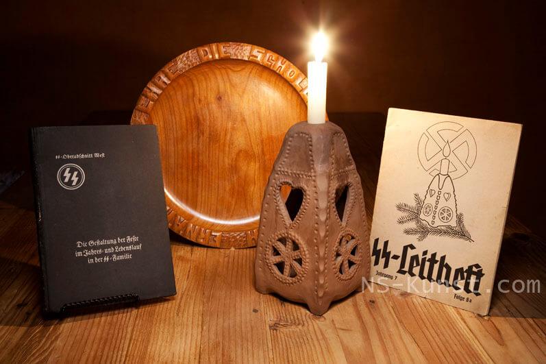 Julleuchter, SS-Leitheft, SS-Wedding Plate, Fritz Weitzel Book