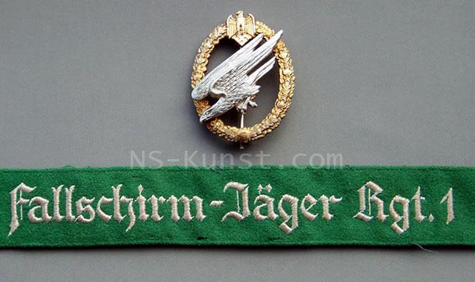German Army Parachutists Cufftitle