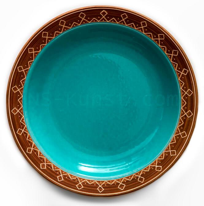 Franz Nagy Odal Rune Border Plate - Allach Porcelain Pattern