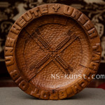 Third Reich Bread Plate with Lebensrune and Swastika